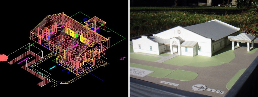 DMA_church-CAD-physical-model